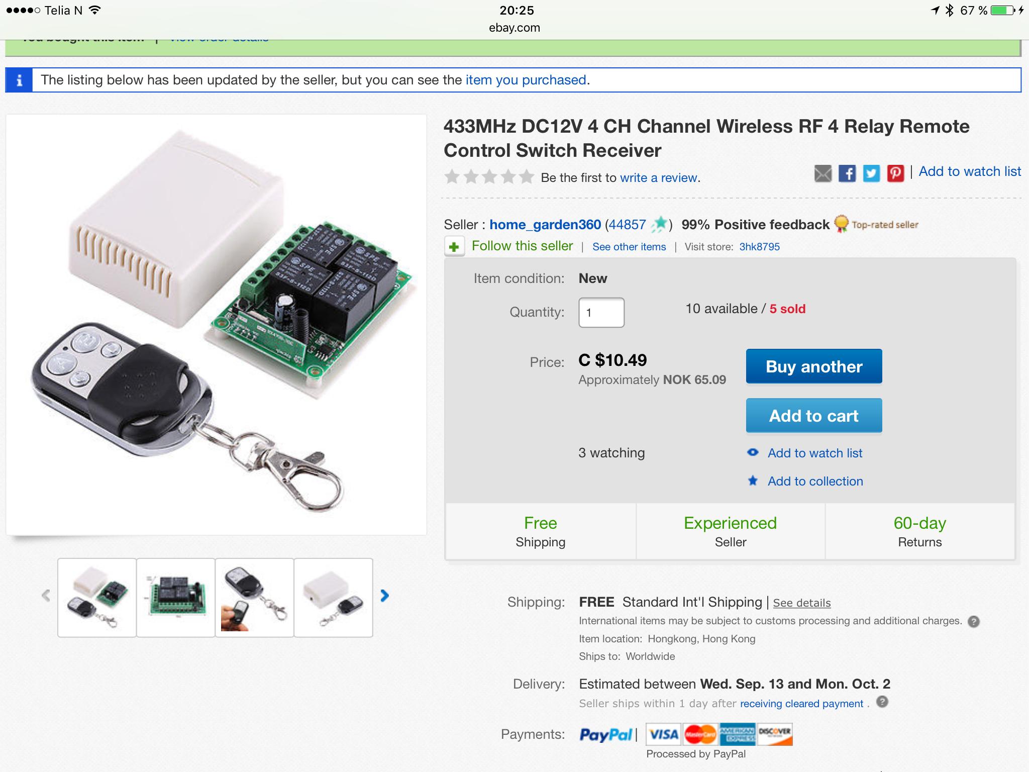 inverter på ebay er det noen dere anbefaler? Elektronikk
