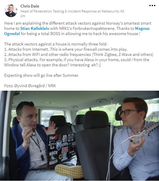 NRK Fobrukerinspektørene og hacker på besøk