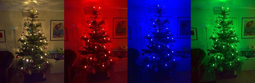 Juletre med enkle RGBW-lys